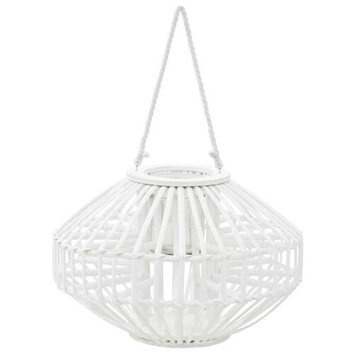 vidaXL Hängender Kerzenständer Laterne Weide Weiß