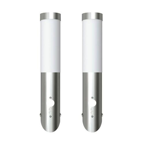 vidaXL Gartenleuchten 2 Wandlampen mit Bewegungsmelder