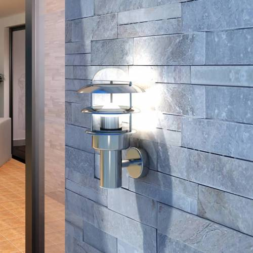 vidaXL Patio LED Wandleuchte Lampe Edelstahl Außenlampe