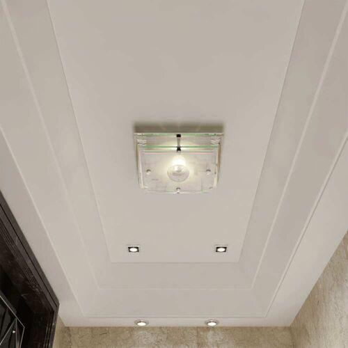 vidaXL Deckenleuchte Wandleuchte Badlampe Glas Lampe Deckenlampe 1 x E27