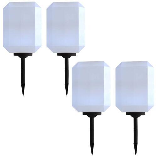 vidaXL Solar-Außenleuchten 4 Stk. LED 30 cm Weiß