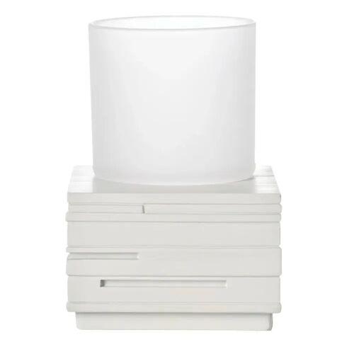 RIDDER Badezimmer-Becher Ziegel Weiß