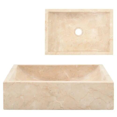 vidaXL Waschbecken 45 x 30 x 12 cm Marmor Creme