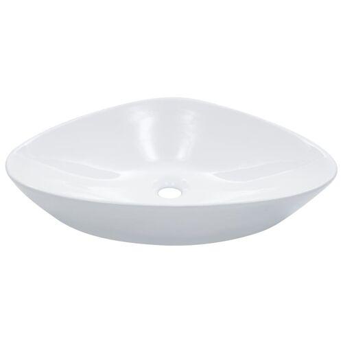 vidaXL Waschbecken 58,5 x 39 x 14 cm Keramik Weiß