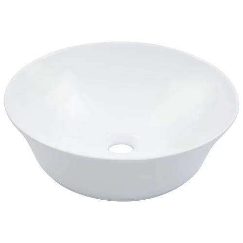 vidaXL Waschbecken 41 x 12,5 cm Keramik Weiß