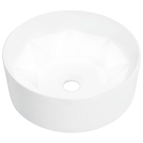 vidaXL Waschbecken 36 x 14 cm Keramik Weiß