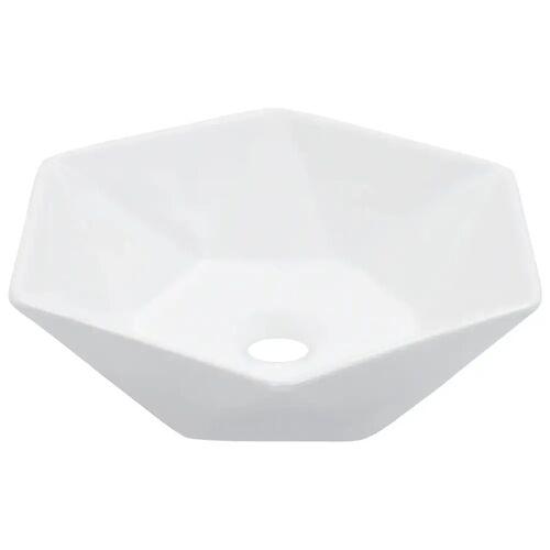 vidaXL Waschbecken 41 x 36,5 x 12 cm Keramik Weiß