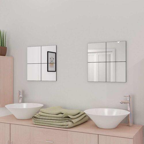 vidaXL Rahmenlose Spiegelfliesen Glas 16 Stk. 20,5 cm