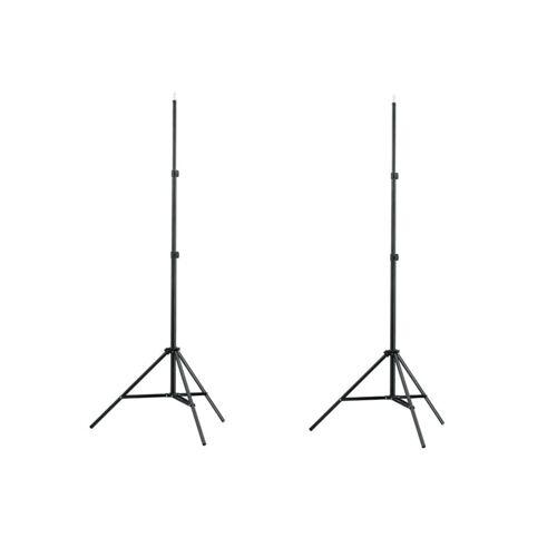 vidaXL Lampenstativ 2 Stk. Höhe 78-210 cm