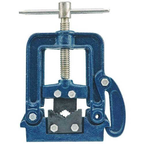 VOREL Rohrschraubstock aufklappbar Metall blau 36570