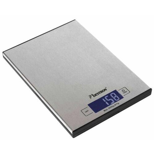Bestron Elektrische Küchenwaage AKS1000S Edelstahl 5 kg