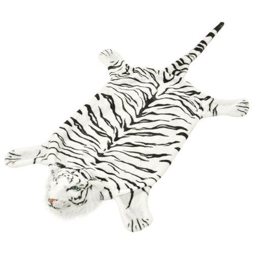 vidaXL Tigerfell Teppich Plüsch 144 cm Weiß
