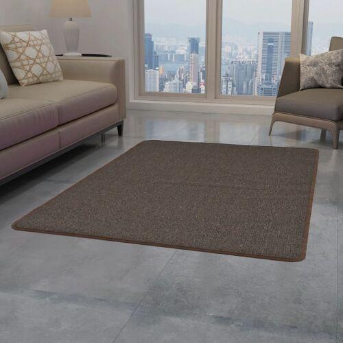 vidaXL Teppich Getuftet 80 x 150 cm Braun