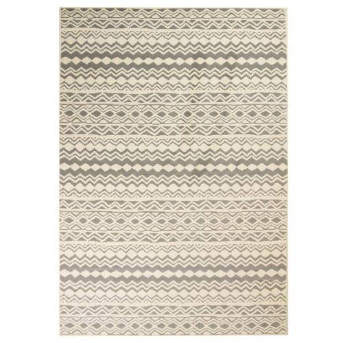 vidaXL Teppich Modern Zickzack-Design 80 x 150 cm Beige/Grau