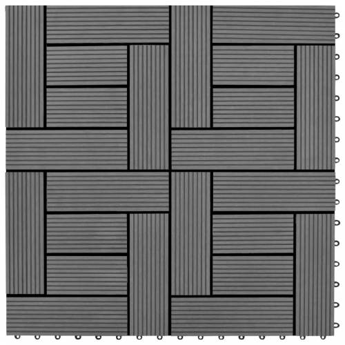 vidaXL Graue Terrassenfliesen 11 Stk. 30 x 30 cm WPC 1 qm