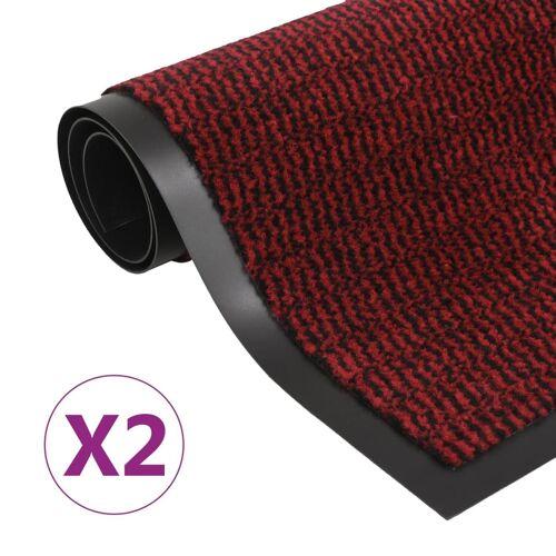 vidaXL Schmutzfangmatten 2 Stk. Rechteckig Getuftet 60x90 cm Rot