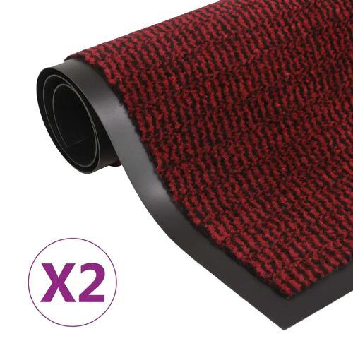 vidaXL Schmutzfangmatten 2 Stk. Rechteckig Getuftet 120x180cm Rot