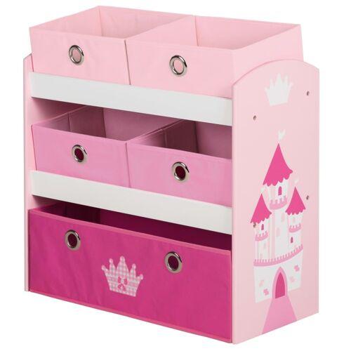 roba Spielzeug-Aufbewahrungseinheit Crown Rosa 63,5x30x60 cm MDF