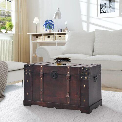 vidaXL Vintage Schatztruhe Holz 66 x 38 x 40 cm
