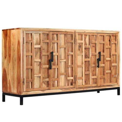 vidaXL Sideboard Akazienholz Massiv 145 x 40 x 80 cm
