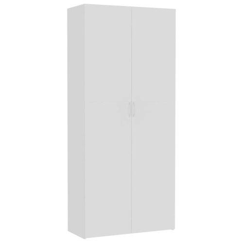 vidaXL Aufbewahrungsschrank Weiß 80×35,5×180 cm Spanplatte