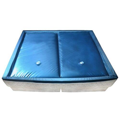 vidaXL Wasserbettmatratzen-Set mit Einlage + Trennwand 200 x 200 cm F5