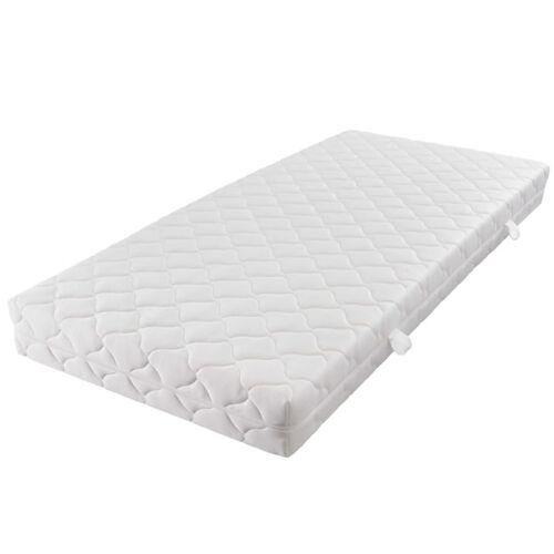 vidaXL Matratze mit waschbarem Bezug 200×90×17 cm