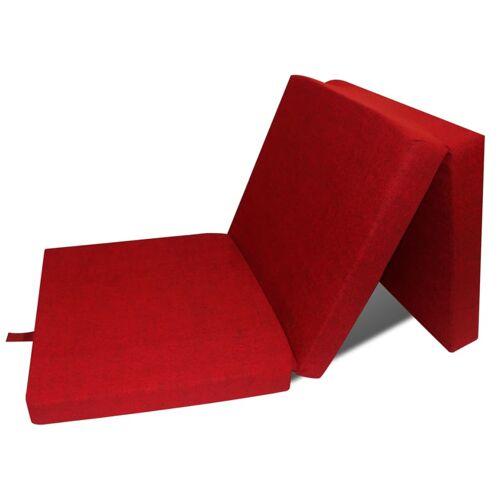 vidaXL 3-teilige Klappmatratze 190×70×9 cm Rot