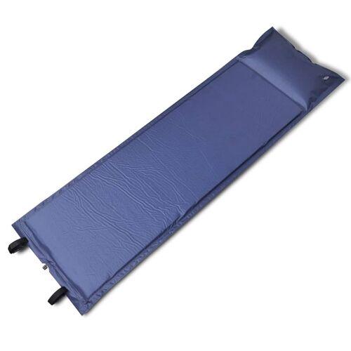 vidaXL Selbstaufblasende Luftmatratze Blau 185x55x3cm (Einzelmatratze)