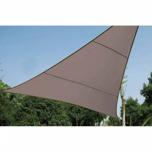 Perel Sonnensegel Dreieck 5 m Taupe GSS3500TA