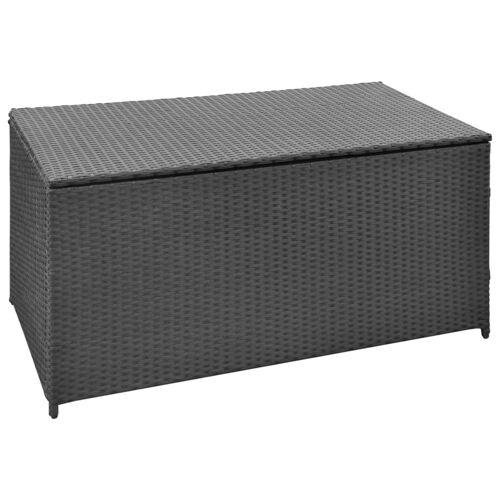 vidaXL Garten-Aufbewahrungsbox Schwarz 120×50×60 cm Poly Rattan