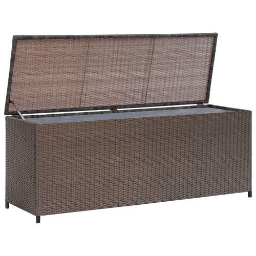 vidaXL Garten-Aufbewahrungsbox Braun 120×50×60 cm Poly Rattan