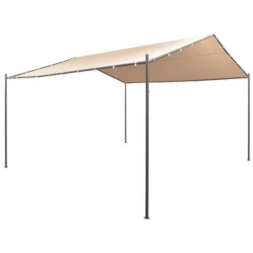 vidaXL Pavilion Partyzelt Überdachung 4 x 4 m Stahl Beige
