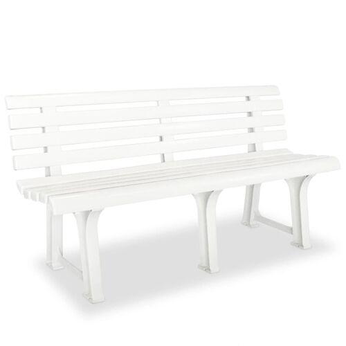 vidaXL Gartenbank 145,5 cm Kunststoff Weiß