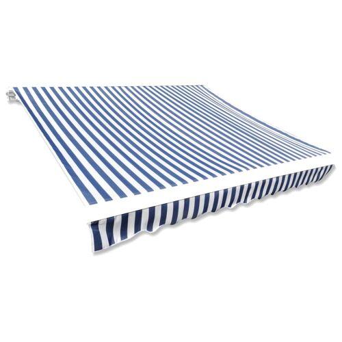 vidaXL Markisenbespannung Canvas Blau & Weiß 350×250 cm