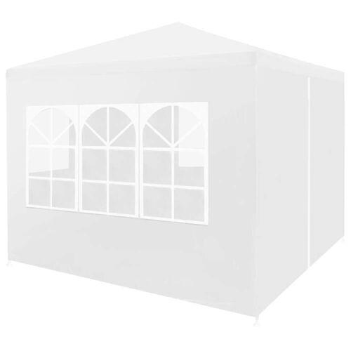 vidaXL Partyzelt 3 x 3 m Weiß