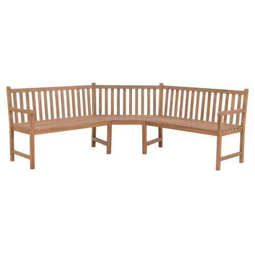 vidaXL Garten-Eckbank 202×202×90 cm Massivholz Teak