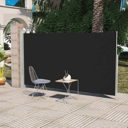 vidaXL Terrassenmarkise Seitenmarkise 160 x 300 cm Schwarz