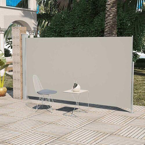 vidaXL Terrassenmarkise Seitenmarkise 160 x 300 cm Creme