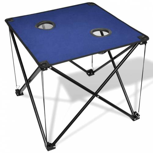 vidaXL Klappbarer Campingtisch blau