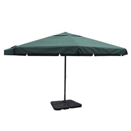 vidaXL Sonnenschirm Aluminium grün mit Schirmständer