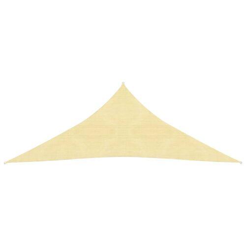 vidaXL Sonnensegel HDPE Dreieckig 3,6x3,6x3,6 m Beige