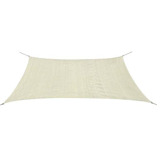 vidaXL Sonnensegel HDPE Rechteckig 2x4 m Creme