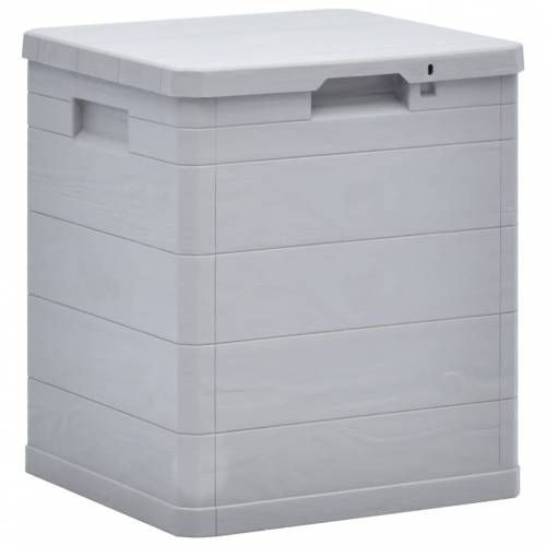 vidaXL Garten-Aufbewahrungsbox 90 L Hellgrau