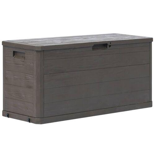 vidaXL Garten-Aufbewahrungsbox 280 L Braun