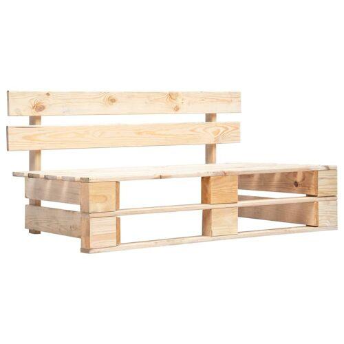 vidaXL Garten-Palettenbank Holz