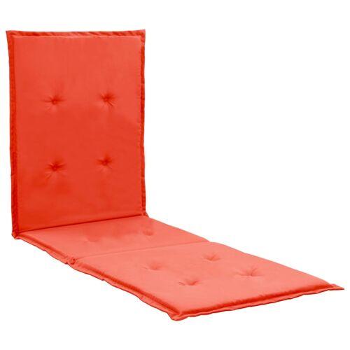 vidaXL Liegestuhl-Auflage Rot 180×55×3 cm