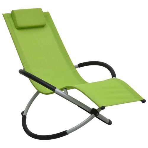 vidaXL Kinder-Sonnenliege Stahl Grün