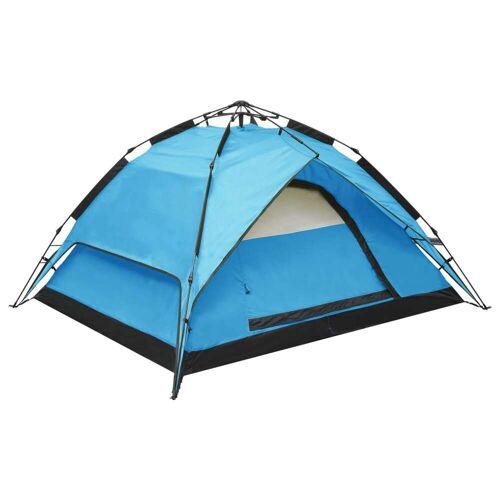 vidaXL Pop-Up-Campingzelt 2-3 Personen 240×210×140 cm Blau