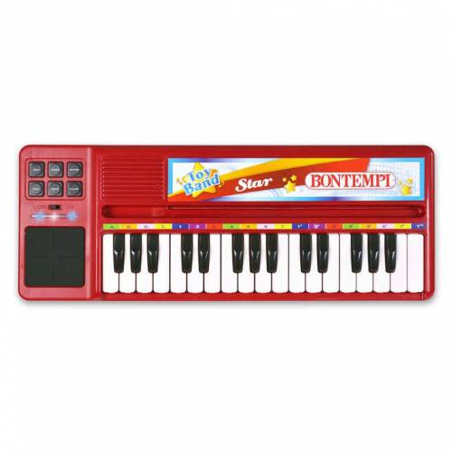 Bontempi E-Keyboard mit 32 Tasten Rot